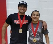 Lobo Powerlifters Roy Flores and Dominic Longoria represented us well at the State Meet.