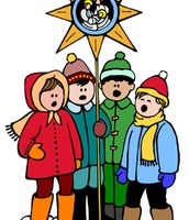 Mis amigos cantan música navidad.