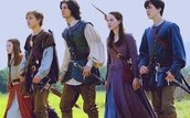 Lucy, Edmund, Prince Caspian, Susan, Peter (respectively)