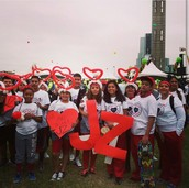 Our family at my cousins Heart Walk