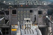 A cool cockpit and fittings, of a aircraft