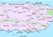 Map of Puerto Rico.