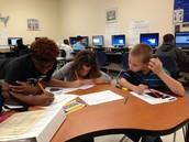 Mrs. Daugherty's Classes Hard at Work!
