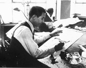 Walt painting in his studio