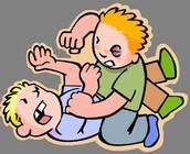 Yo encantaba a pelear con mi amigos