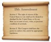 The Fifteenth amedment