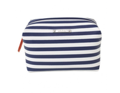Blue/White striped pouf