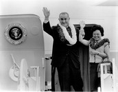 Patsy with LBJ on Air Force One