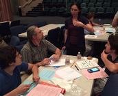 Teachers facilitate math activities