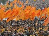 Orange revolution protest