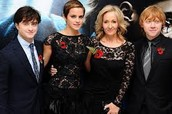 J.K. Rowling with her family