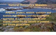 Natural resource mission