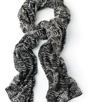 Striped Zebra Scarf - $30