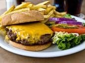 la hamburguesa con queso
