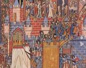 כיבוש ירושלים בידי הצלבנים. ציור מהמאה ה-13