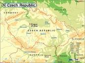 Czech Republic Physical Map