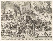 Avaritia (Greed), 1558 Pieter van der Heyden after Pieter Bruegel the Elder (Netherlandish, ca. 1525–1569)