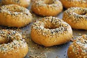Onion and Sesame Bagels