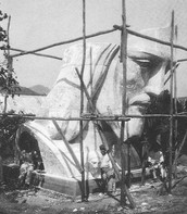 Head of Christ the Redeemer during Construction