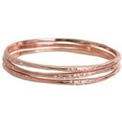 Rhea Bangles, Rose Gold-regular price $79, sale price $25