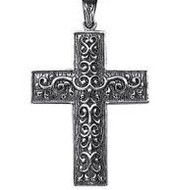 She wore a silver cross neclace