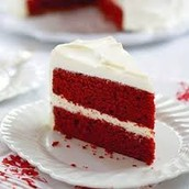 Rich Red Velvet Cake  w/Creamy Cream Cheese Frosting