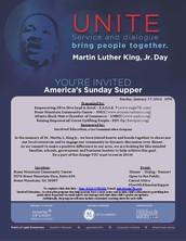 "FREE MLK Celebration ""America's Sunday Supper""-January 17"
