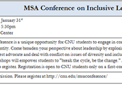 MSA Conference on Inclusive Leadership
