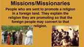 Missions/Missionaries
