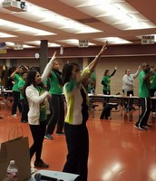 """Principal Beston (G/B) stated, """"We had a great E-Colors in Education PD session with Rosalinda Mercado-Garza today! We even took time for a little Monday Motivation Movement!"""""""