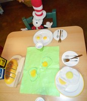 Cat In The Hat is ready to try Green Eggs and Ham