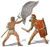 They also battled with nets and pitch forks.