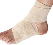Compress the ankle or wrist