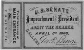 Ticket for a sentaor to be present at the impeachment