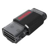 SanDisk Ultra Dual USB Drive 32 GB - Hitam