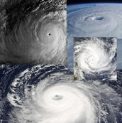 A collage of Tropical Cyclones