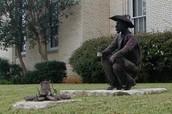 Graham Texas Post Office Statue
