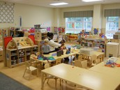 Dramatic, block, manipulative, art, and wood working areas in view