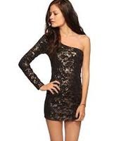 El vestido encaje  negro
