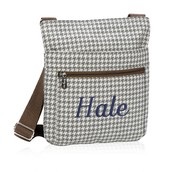 Organizing Shoulder Bag - Grey Houndstooth