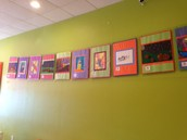 Art Display at Orange Leaf on 46 W. by the HEB!