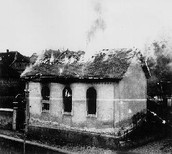 Houses were burned by the Nazis