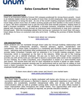 Sales Consultant Trainee