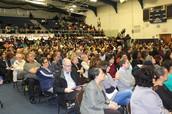 Mayor Julian Castro brings a crowd