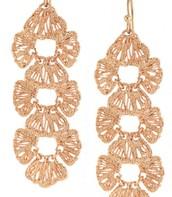 Geneve Lace Linear Earrings - Rose Gold