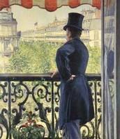 Uomo al balcone, Caillebotte, 1880