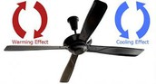 Direction Changing Ceiling Fan