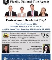 Feb. 11th - Agent Headshot Day