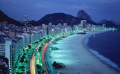 Brazil beaches at night