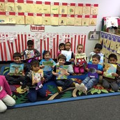 PreK with their books
